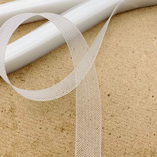 1//2 Wide Selling Per Roll Soft Polyester White Horsehair Braid 22 Yards