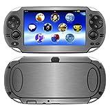 Decalrus - PlayStation PSP Vita TITANIUM Texture Brushed Aluminum skin skins decal for case cover wrap BAvitaTitanium
