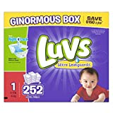 Health & Personal Care : Luvs Ultra Leakguards Diapers, Size 1, 252 Count by Luvs