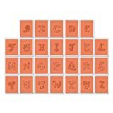 Sizzix 659199 Eclectic Monograms Textured Impressions Embossing