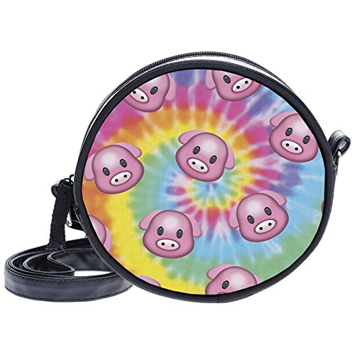 Gangsta Dye Emoji multicolore Tie femme pour Pig Pochette Fringoo petit qwI8XFx7