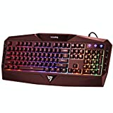 VicTsing Rainbow LED Backlit Gaming Keyboard Wired, Anti-ghosting...