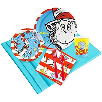 Dr Seuss Party Supplies - Party Pack Bundle for 24