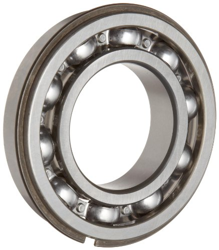 Timken 206KG Ball Bearing, Open, With Snap Ring, Metric, 30 mm ID, 62 mm OD, 16 mm Width, Max RPM, 2550 lbs Static Load Capacity, 5000 lbs Dynamic Load Capacity
