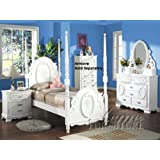 amazon com pearl white finish twin sleigh bed 5 pc set by 1000 ideas about bookcase headboard on pinterest