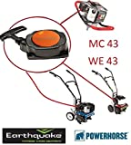 Pull Start Starter Replace for Earthquake E43 Earth Auger Power Head Standard Handle Recoil Assy 300430