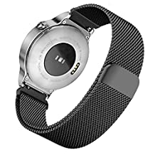 Milanese Watchband, iitee Stainless Steel Mesh Band Magnetic Strap Bracelet for Huawei Smart Watch (black)