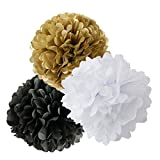 Happy New Year Party Decorations Black White Gold