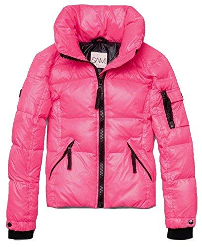 SAM. New York Girls Freestyle Down Puffer Pink Flamingo Jacket 2T by SAM.
