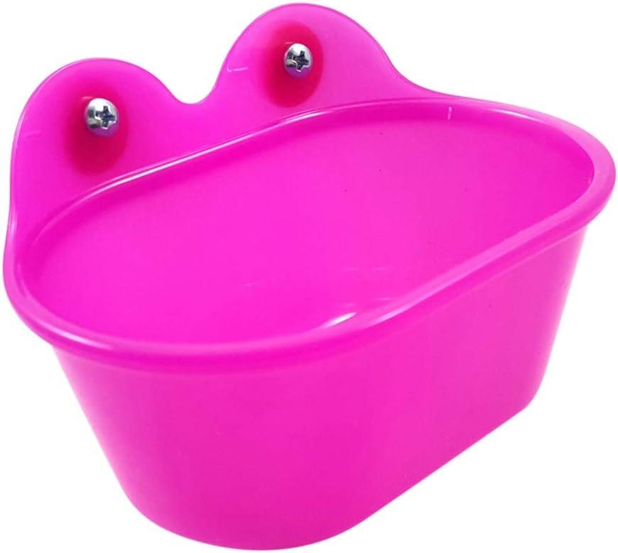 Hankyky Pájaro de baño con Espejo, Juguete portátil, pájaro de baño, para Mascotas, Loro, Periquito, Finch, Canario, Gris, cóctel, Ducha, baño, bañera, comedero
