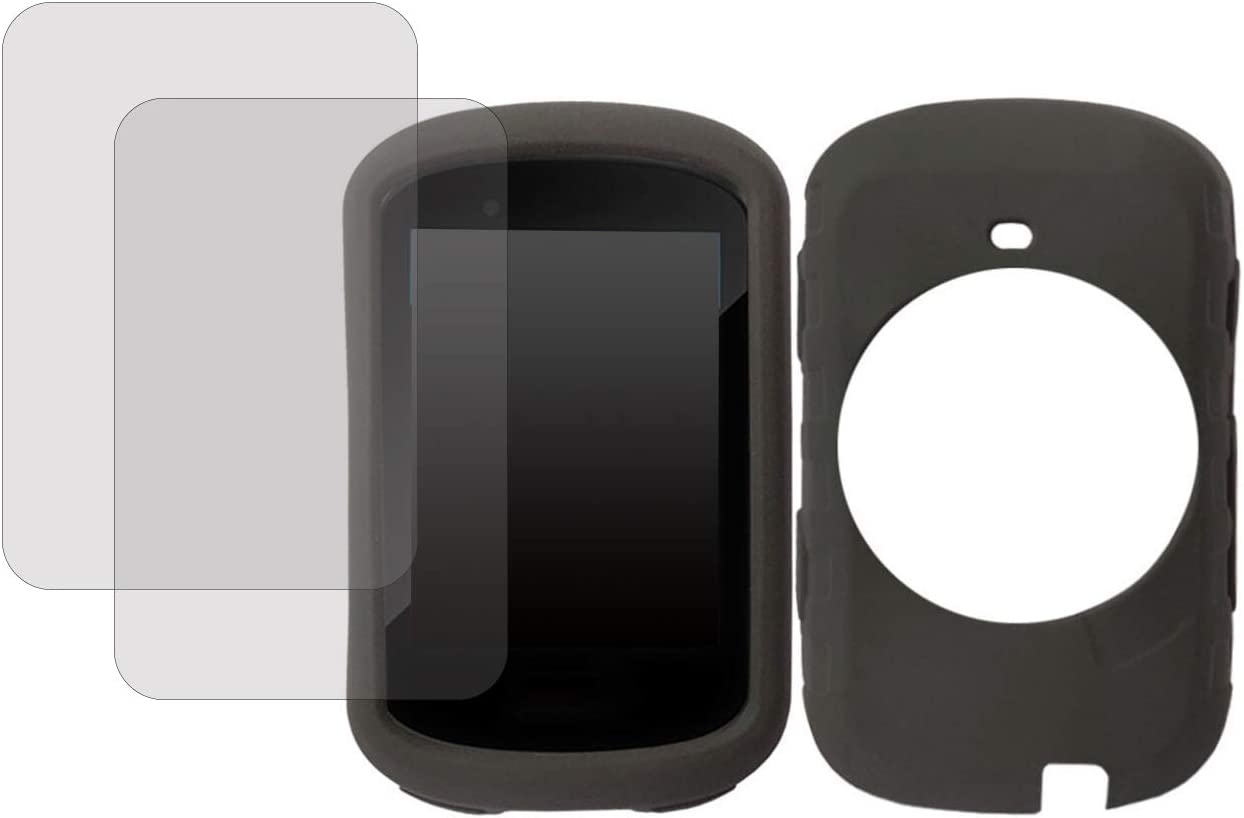 Thinvik Silicone Case for Garmin Edge 530 with 2 Screen Protector,Garmin Bike Computer Cover-Cycling GPS Computer Accessories