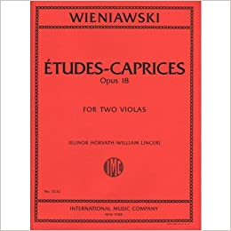 the latest new york best supplier Amazon.com: Wieniawski Henryk Etudes-Caprices, Op Two Violas ...