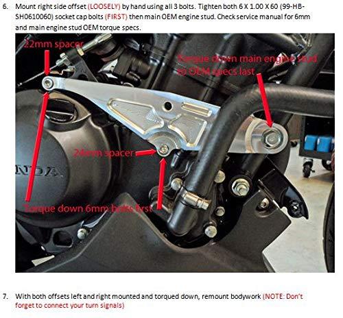 710-3149 MADE IN THE USA Shogun 2015-2019 Honda CBR300R CBR 300 No Cut Carbon Fiber Frame Sliders