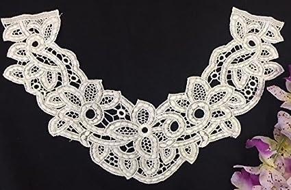 Exquisite workmanship off white lace venice embroidery applique