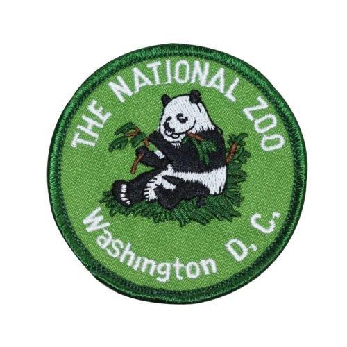 Patch Nationals Washington Dc (Souvenir Patch '',The National Zoo Washington DC'', Panda Park Iron-On Applique for Accessories - Bags/Purses, Apparel - Coat/Jacket, Apparel - Jeans/Pants, Children, Crafts by SayrusPlay)