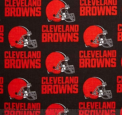 1 Yard - Cleveland Brown Cotton Broadcloth Fabric (Great for Quilting, Sewing, Craft Projects, Quilt, Throw Pillows & More) 1 Yard X ()