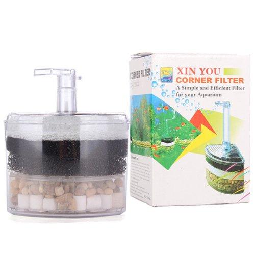 - MECO Underwater Air Driven Oxygen Releases Aquarium Fish Tank Biochemical Stone Sponge Corner Filter