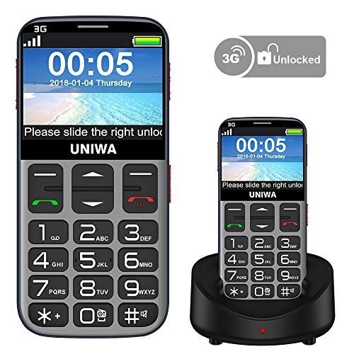 (Mosthink Unlocked Cell Phones for Elderly People, Cell Phone for Seniors SOS Senior Phone Senior Cell Phone Unlocked Big Buttons and High Volume, 3G Basic Phone AT&T Compatible)