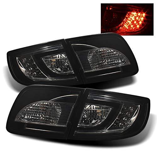 For 2004-08 Mazda 3 4-Door Sedan LED Tail Lights Assembly Chrome Housing Smoked Lens (Non Hatchback Model) Only Full Set