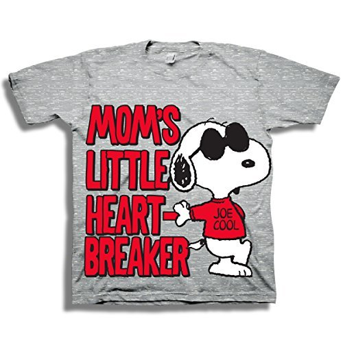 Peanuts Toddler Boys Snoopy Shirt - Featuring 'Moms Little Heart Breaker' & 'Joe Cool' on Snoopy - Snoopy T-Shirt (3T)
