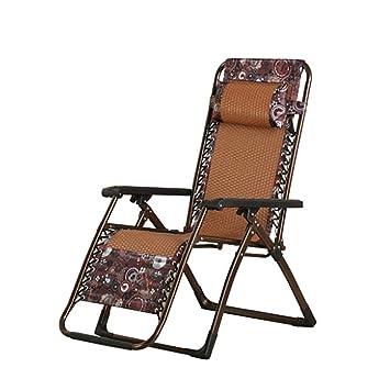 Inclinable De En Rotin ZmFauteuil Pliant Chaise Bureau Longue EDH2I9