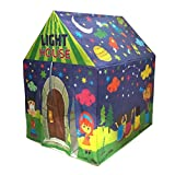 Muren fluorescent LED light tent house for Kids play tent 3+, Multicolour (Design 1)