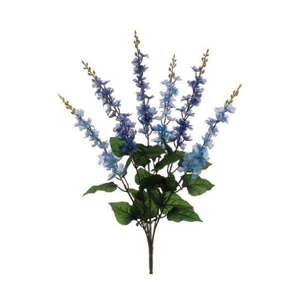SilksAreForever 24″ Silk Delphinium Flower Bush -2 Tone Blue (Pack of 12)