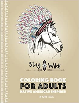 Amazon.com: Coloring Book for Adults: Native American Inspired ...