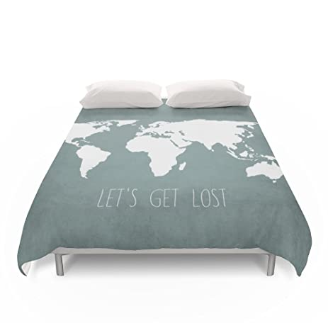 Amazon society6 lets get lost world map duvet covers queen 88 society6 lets get lost world map duvet covers queen 88quot gumiabroncs Gallery