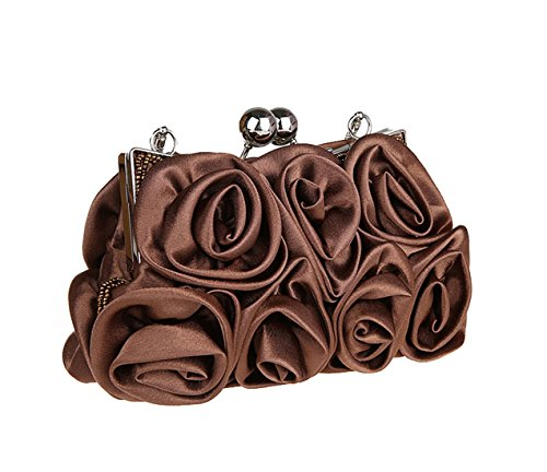 Aronvivi - Cartera de mano para mujer rose red(1) talla única coffee(2)