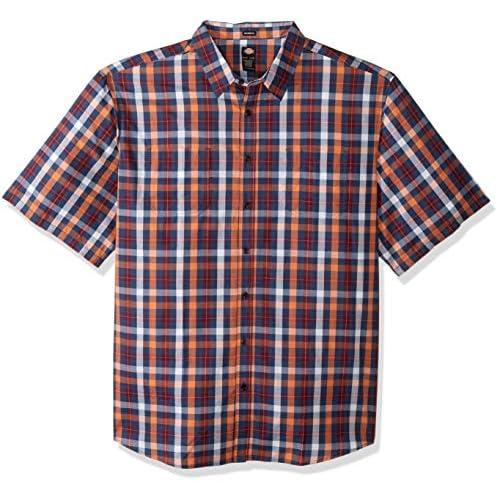 dickies Men's Yarn Dyed Plaid Short Sleeve Shirt Big-Tall