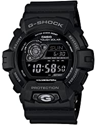 Casio Mens GR8900A-1 G-Shock Tough Solar Digital Black Resin Sport Watch