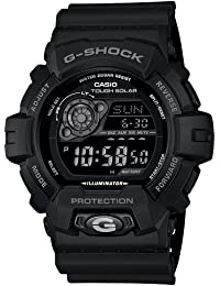 Men's GR8900A-1 G-Shock Tough Solar Digital Black Resin Sport Watch