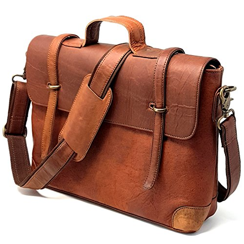 Purple Relic  New Arrival Special Stylish Man Bag  15 Inch Rustic Leather Satchel  Laptop Messenger Briefcase Bag For Office College  Bag With Removable Laptop Sleeve  Unisex