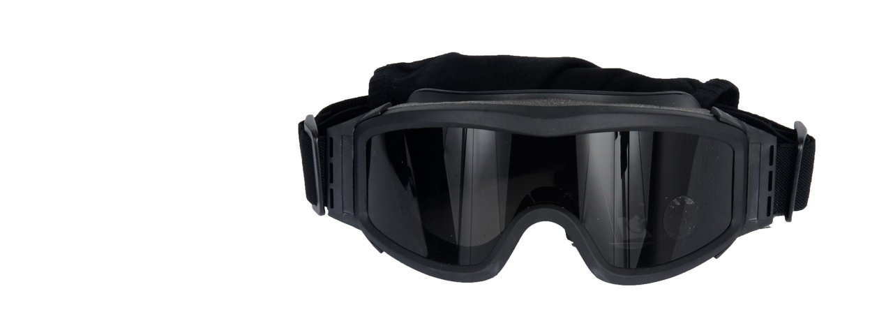 227dd15fae46 Lancer Tactical AERO 3mm Thick Dual Pane Lens Eye Protection Safety Goggle  System ANSI Z87 1 Rated Industry Standard Panel Ventilated w Anti-Scratch  Shield ...