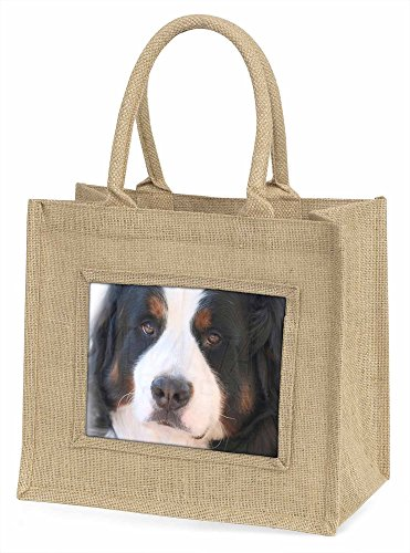 Advanta ad-ber5bln Berner Sennenhund Große Einkaufstasche/Weihnachten Geschenk, Jute, beige/natur, 42x 34,5x 2cm
