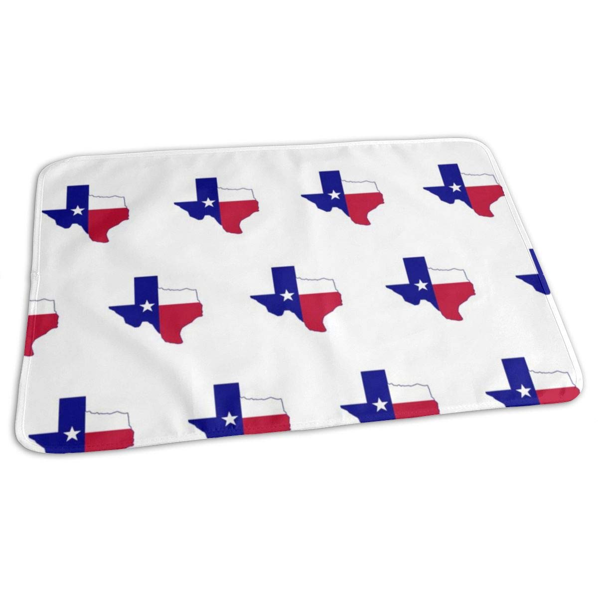 Texas Flag Map Baby Portable Reusable Changing Pad Mat 19.7x27.5 inch