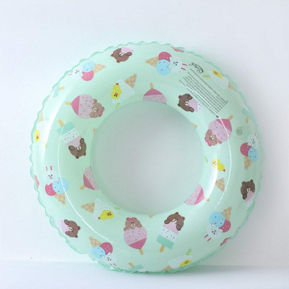 Non-Toxic Children Swim Circle, Children Life Buoy with Animal Printing, Swimming Ring for Children. (Color : Green, Size : 70#) by Cass (Image #1)