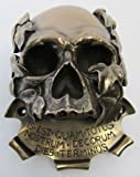 Bronze Memento Mori Skull Beer Buddies Beer Bottle Opener Wall Fence Bar Mounted Novelty Gift, Beer Buddies are a great Fathers Day, Birthday, or just for fun present
