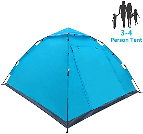 LETHMIK Pop Up Tent Tents for Camping 2 3 4 Person – 30 Seconds Easy Up Camping Tent – Waterproof, Lightweight Instant Tent for Outdoor Hiking – Includes Carry Bag