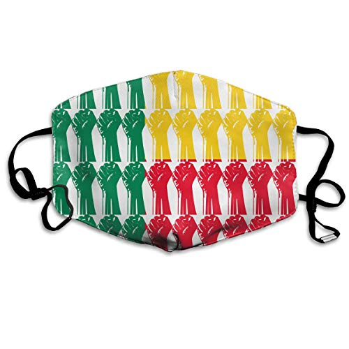 Benin Flag Raised Fist Mouth Mask Unisex Anti-dust Cotton Face Mask for Men and Women, Boys and Girls