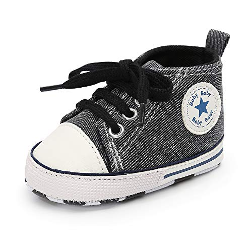 - Tutoo Infant Baby Boys Girls Canvas Toddler Sneaker Anti-Slip First Walkers Candy Shoes 0-18 Months (6-12 Months Infant, A01-deep Grey)