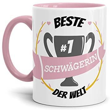 Gut Tassendruck Kaffee Tasse Schwägerin Innen U0026 Henkel Rosa/Lustig/Fun/Mug/