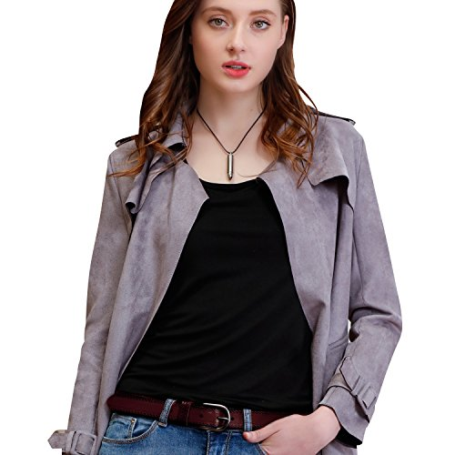 GSG Womens Stylish Dual Floral Embossed Genuine Leather Jeans Belt Casual Pin Buckle Ladies Belts Birthday Gifts Brown S ()
