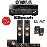 Klipsch RP-280F 3.1.2-Ch Reference Premiere Dolby Atmos Home Theater System with Yamaha AVENTAGE RX-A770BL 7.2-Ch 4K Network AV Receiver