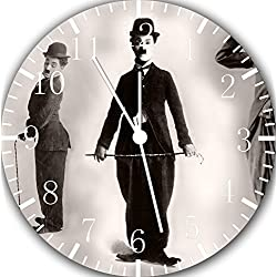 Funny Charlie Chaplin Frameless Borderless Wall Clock E106 Nice for Gift or Room Wall Decor