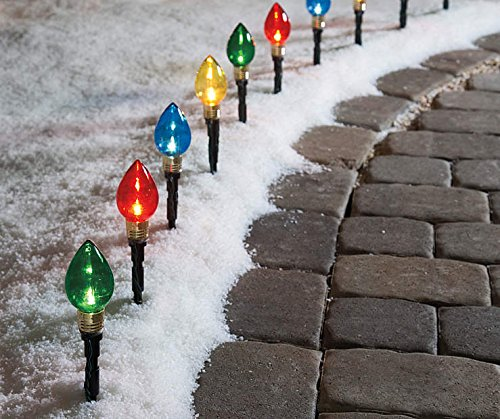 Outside Christmas Pathway Lights