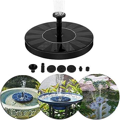 HYGJ Fuente de Fuente Solar de jardín 2W, Fuente de jardín Solar, Fuentes de Agua, Fuente Solar de Aves, Bomba de Agua, Fuente de baño de Aves: Amazon.es: Deportes y aire libre