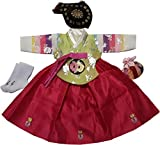 Hanbok Korean Traditional Girls Costumes Dress 1st Birthday DOLBOK hg1001/1f
