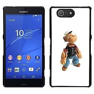 """For Sony Xperia Z3 Compact Case , Oso de peluche de juguete Figuras de madera capitán marinero"""" - Diseño Patrón Teléfono Caso Cubierta Case Bumper Duro Protección Case Cover Funda"""